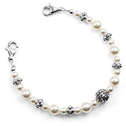 Floral Pearl Beaded Medical Alert Bracelets for Women Strap