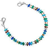 Pebble Beach Beaded Medical Alert Bracelets for ID Tag