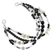 Stardust Beaded Medical Alert Bracelet for ID Tag
