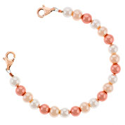 Shades of Rose Pearl Medical Alert Bracelet for ID Tag