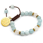 Calm Waters Adjustable Beaded Medical ID Bracelet