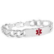 Sterling Silver Anchor Link Medical Bracelet  8.5  inch