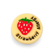 Strawberry Allergy Button for Kids Rubber Medical Bracelet