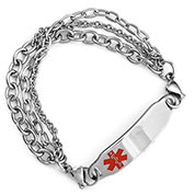 Jordana Multi Chain Medical  Bracelet for Women