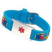 Blue Train Medical ID Bracelet for Boys or Girls
