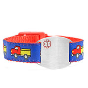 Trucks Sports Band Medical ID Bracelet 4 - 8 Inch