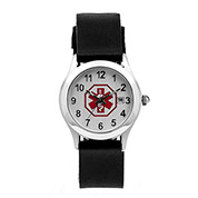 Womens Black Medical Watch with Silicone Strap