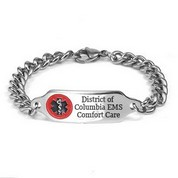 Washington DC DNR Medical ID Stainless Bracelet 7 - 9 In