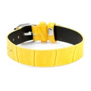 Yellow Faux Leather Strap with Buckle Fits Six to Eight Inches
