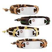 Logan Hemp Leather Medical ID Bracelets