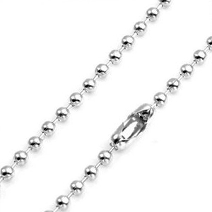 2.3mm Sterling Silver Bead Necklace 14 - 30 inch