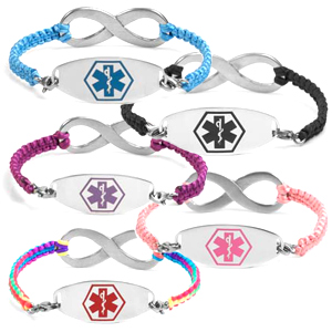 Infinity Macrame Medical Bracelets for Women