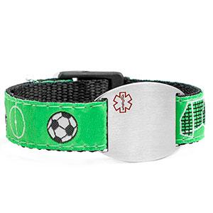 Soccer Medical Sport Band Bracelet for Boys or Girls 4 - 8 Inch