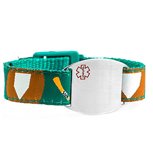 Baseball Medical Sport Band Bracelet for Boys or Girls 4 - 8 Inch
