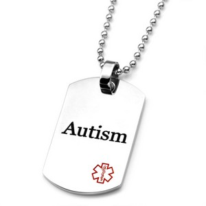 Stainless Steel Autism Medical ID Dog Tag