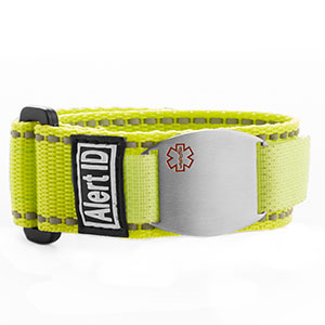 Yellow Alert ID Medical Bracelet