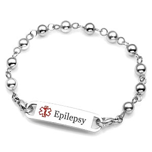 Womens Steel Beaded Seizure Bracelet