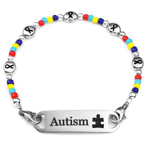 Puzzle Piece Colorful Autism Bracelet