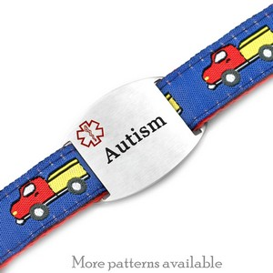 Engraved Autism Bracelet for Children in Multiple Patterns