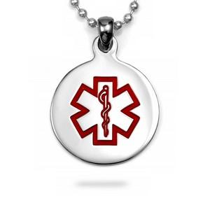 Round Medical Stainless Pendant Medium