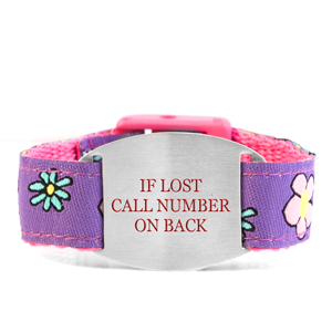 Flower Patch Safety ID Bracelet