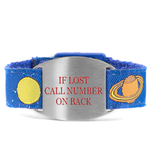 Solar System Safety Bracelet for Kids Fits 4 - 8 In Wrists