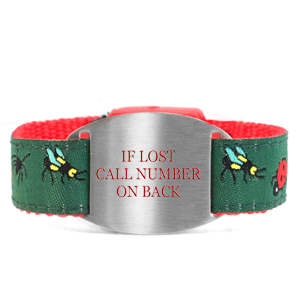 Bug Collection Safety ID Bracelet for Kids