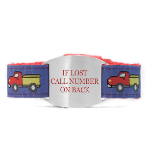 Child Truck Stop Safety ID Bracelet
