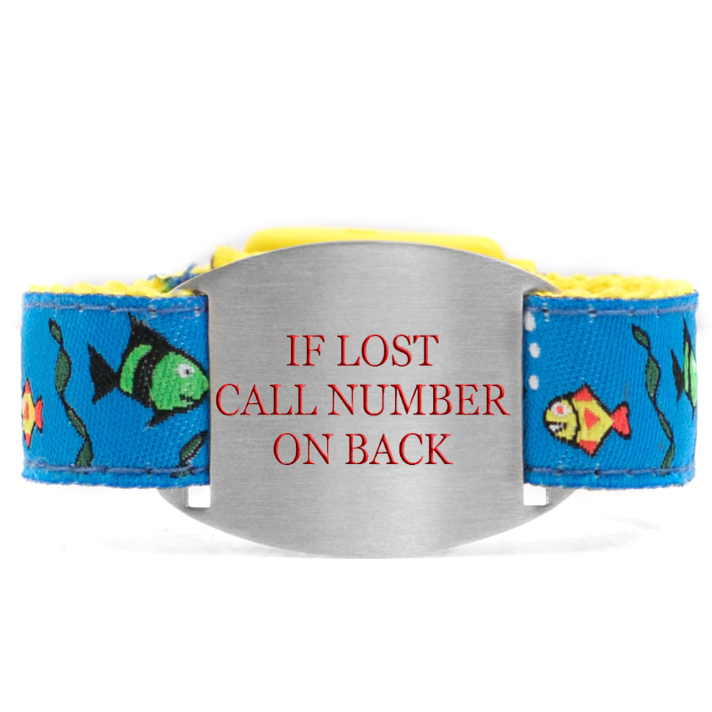 Fishy Friends Safety ID Bracelet for Kids