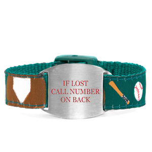 Little Slugger Safety Bracelet for Kids Fits 4 - 8 In Wrists