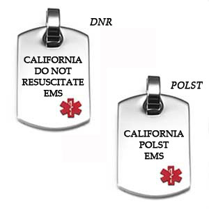 California DNR / POLST Medallion ID Necklace