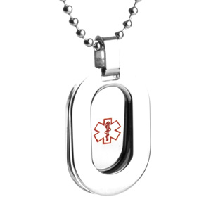 Framed Medical Alert Necklace