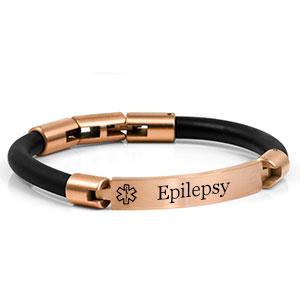 Bronzed Steel Designer Epilepsy Bracelet
