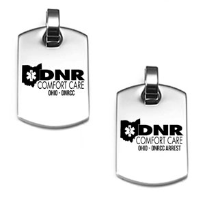 Ohio Comfort Care DNR Pendant with 24 Inch Adjustable Neck Chain