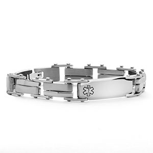 Marlon Stainless Steel Medical Bracelet