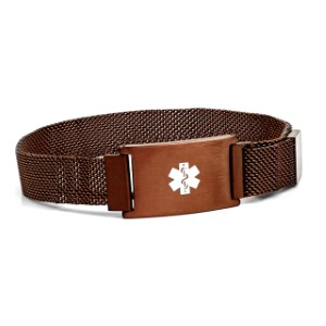 Adjustable Coffee Color Medical Bracelet