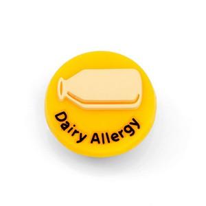 Dairy Allergy Button for Kids Rubber Medical Bracelet