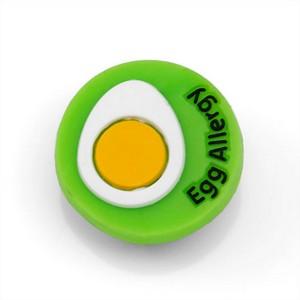 Egg Allergy Button for Kids Rubber Medical Bracelet