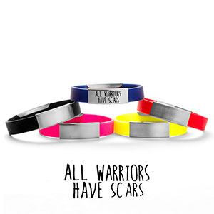 All Warriors Have Scars Silicone Medical Alert Bracelets