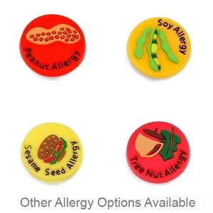 Rubber Allergy Buttons for Fun Kids Allergy Bracelets