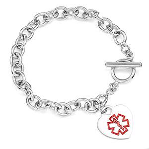 Alzheimer's Gold Medical Bracelet for Her