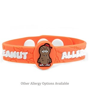 Allergy Buddy Rubber Bracelets for Kids - More Styles