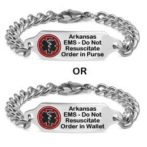 Arkansas Do Not Resuscitate DNR Bracelet