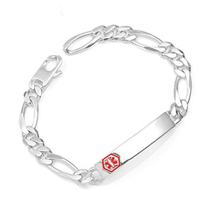 Tanner Sterling Link Medical ID Bracelet 8 1/2 Inch