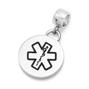 Modern Engravable Medical Charm