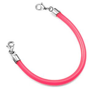 6.5 Inch Pink Rubber Bracelet