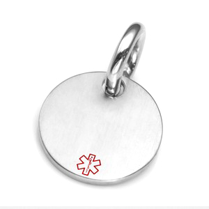 SM Medical Brushed Steel ID Tag for Purses, Pets, & More
