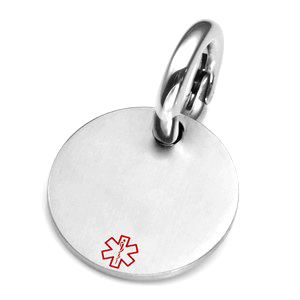 MD Medical Brushed Steel ID Tag for Purses, Pets, & More