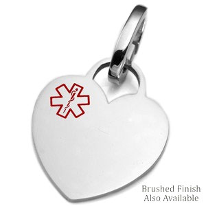 Stainless Heart Medical ID Tags for Purses, Pets, & More