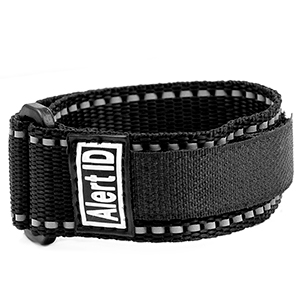 Black Alert ID Sport Strap Adjustable 5 1/2 - 8 Inches